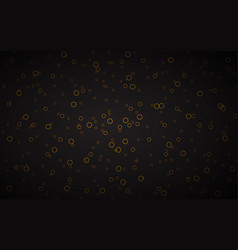 black abstract background with gold circles vector image