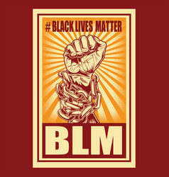 black lives matter drawing hand 15 vector image