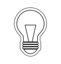 bulb light flat icon vector image