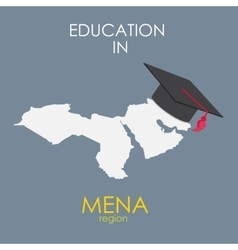 Business School Education in Mena Region Concept vector