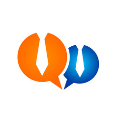 business talk speech bubble symbol design vector image