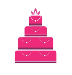 Cake wedding vector image