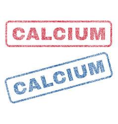 Calcium textile stamps vector
