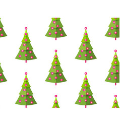 christmas seamless pattern happy holiday vector image
