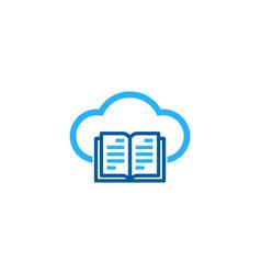 cloud book logo icon design vector image