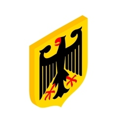 Coat of arms of Germany isometric 3d icon vector image