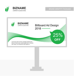 Company bill board design with green theme with vector