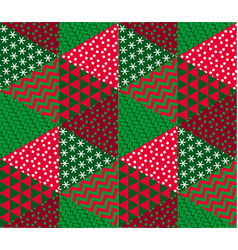 concept patchwork xmas design vector image