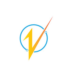connect electric logo vector image
