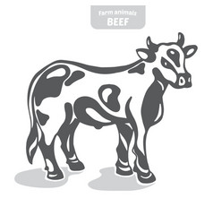 cow hand-drawn vector image