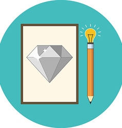 Creativity inspiration concept Flat design Icon in vector image