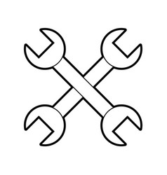 cross wrench tools isolated icon vector image