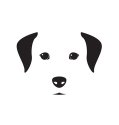 cute dog simple design for emblem logo etc dog vector image
