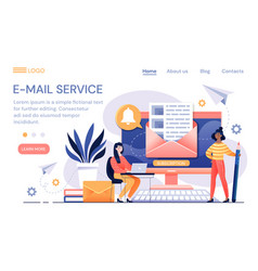 e-mail service with online correspondence vector image