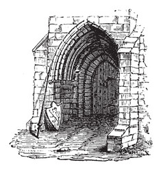 Early english door the most significant vintage vector