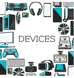 electronics devices and digital gadgets vector image