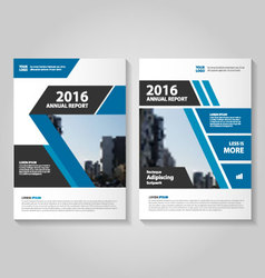 Elegance Blue black annual report Leaflet vector