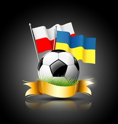 European Football 2012 and flag vector image