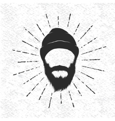 Face of lumberjack vector image