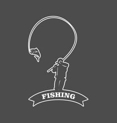 Fishing logo template design vector