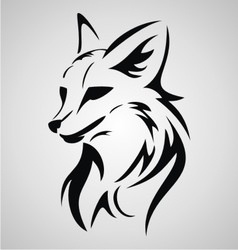 Fox Tattoo Design vector image