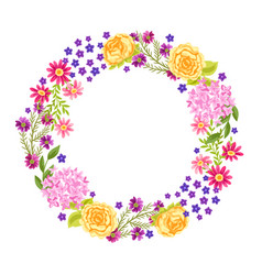 Frame with pretty flowers vector