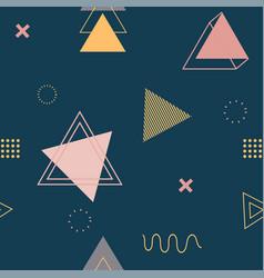 geometric printing seamless pattern design vector image