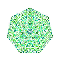 Geometrical isolated abstract floral mosaic vector
