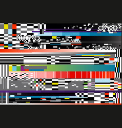 Glitch background computer vector