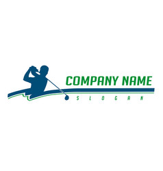 Golfer logotype vector