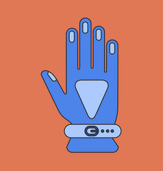 Icon in flat design glove vector