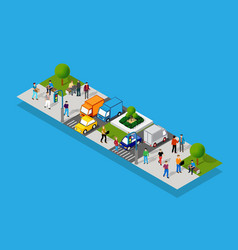 isometric people lifestyle communication in vector image