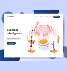 landing page template business intelligence vector image