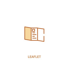Leaflet concept 2 colored icon simple line vector
