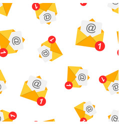 mail envelope icon seamless pattern background vector image
