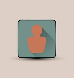 Man portrait icon vector