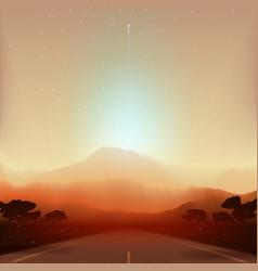 mars fantastic landscape vector image
