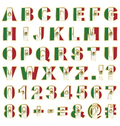 mexico alphabet vector image