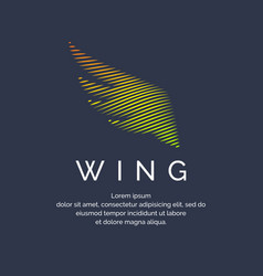 modern colored wing in a futuristic style vector image