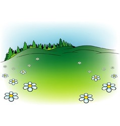 Mountain Meadow vector