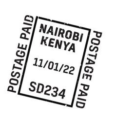 Nairobi postage stamp vector