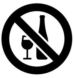 no drinking smoking forbidden sign modern round vector image