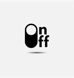 on off button vector image