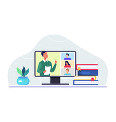 online class meeting concept vector image