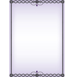 onyx and amethyst bead border vector image