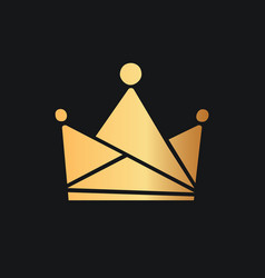 Queens or kings crown logo isolated golden vector