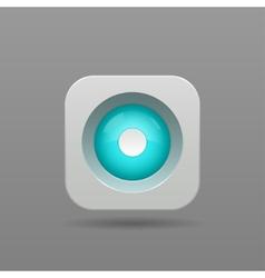 Record button vector image