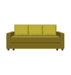 retro sofa mockup realistic style vector image