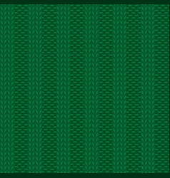 Rib knit green pattern vector