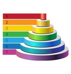 Round pyramid vector